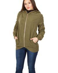 Apricot - Khaki Soft Hooded Jacket - Lyst