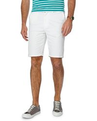 Racing Green - Big And Tall White Chino Shorts - Lyst