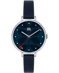Orla Kiely - Ladies Navy 'ivy' Analogue Leather Strap Watch Ok2011 - Lyst