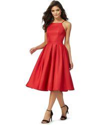 Lipsy - Red 'amity' Midi Prom Dress - Lyst