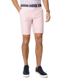 Racing Green - Pink Belted Oxford Chino Shorts - Lyst