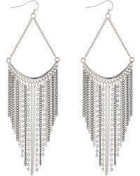 Red Herring - Silver Chain Drop Earrings - Lyst