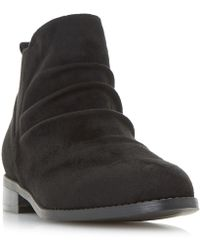 Dune - Black 'piaa' Ruched Chelsea Ankle Boots - Lyst