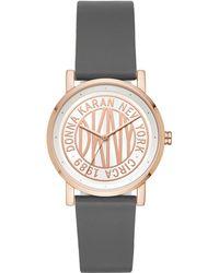 DKNY - Ladies Grey 'soho' Analogue Leather Strap Watch Ny2764 - Lyst
