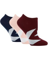 Converse - 3 Pack Multi-coloured Ultra Low Socks - Lyst