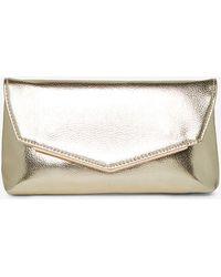 62427700f67382 Dorothy Perkins Rose Gold Metal Bar Clutch Bag in Metallic - Lyst