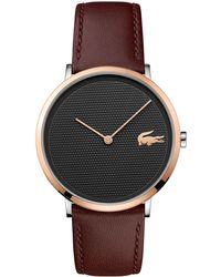 Lacoste - Men's Brown 'moon' Chronograph Strap Watch - Lyst