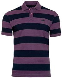 Raging Bull - Navy And Purple Large Hoop Polo Shirt - Lyst