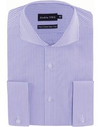 Double Two - Lilac Stripe Double Cuff Formal Shirt - Lyst