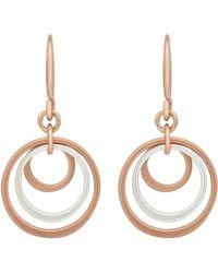 Pilgrim - Rose Gold Plated 'lona' Drop Earrings - Lyst