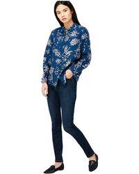 Monsoon - Blue 'dahlia' Print Linen Shirt - Lyst