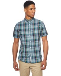 Racing Green - Green Classic Check Tailored Fit Shirt - Lyst