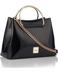 Faith - Black Patent Small Grab Bag - Lyst