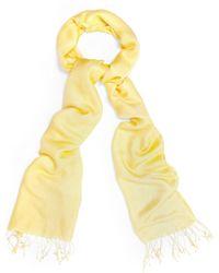 Phase Eight - Yellow Diamond Weave Pashmina - Lyst