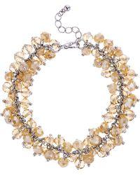 J By Jasper Conran - Designer Cluster Beaded Bracelet - Lyst