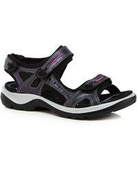 Ecco - Black 'off Road' Sandals - Lyst