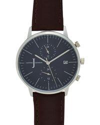J By Jasper Conran - Mens' Brown Chronograph Watch - Lyst