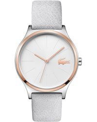 Lacoste - Ladies Grey Analogue Leather Strap Watch - Lyst