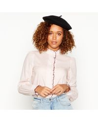 Vero Moda - Pink Striped Long-sleeved Shirt - Lyst