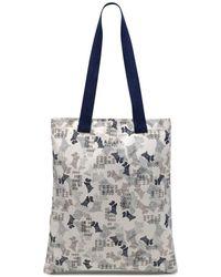 524eefc92124 Uzurii Beach Bag In White Faux Fur With Multi Coloured Chain Handle ...