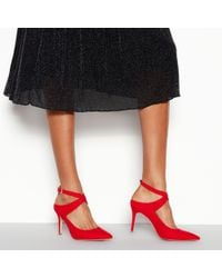 a4ca13cac617 New Look · Faith - Red Suede  cross  Stiletto Heel Shoes - Lyst