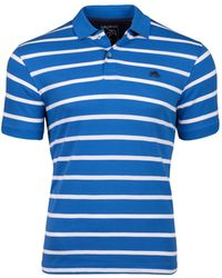 Raging Bull - Breton Blue Polo Shirt - Lyst
