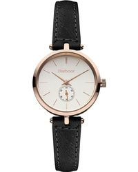 Barbour - Ladies Rose Gold Dial Qa Strap Watch Bb011rsbk - Lyst