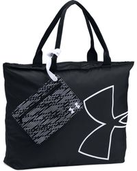 Under Armour - Black Big Logo Graphic Tote Bag - Lyst
