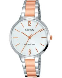 Lorus - Ladies Dress Bracelet Watch With A Soft Silver Sunray Dial - Lyst