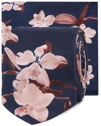 Red Herring - Navy Floral Print Tie And Pocket Square Set - Lyst