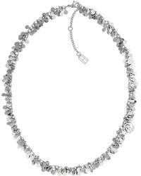 Tommy Hilfiger - Silver 'classic Signature' Disc Necklace - Lyst