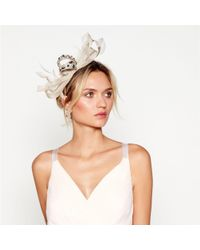 Jenny Packham - Gold Embellished Bow Headband - Lyst