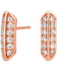 J By Jasper Conran - Designer Sterling Silver Pave Stud Earrings - Lyst