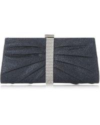 Roland Cartier - Bellvia' Diamante Trim Sparkly Clutch Bag - Lyst