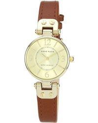 Anne Klein - Ladies Brown Round Dial Leather Strap Watch 10/n9442chhy - Lyst