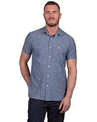 Raging Bull - Short Sleeve Chambray Denim Shirt - Lyst