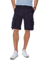 Racing Green - Navy Regular Fit Cargo Shorts - Lyst