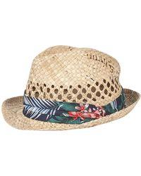 Burton - Woven Floral Trilby Hat - Lyst