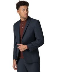 Racing Green - Deep Blue Pick And Pick Athletic Fit Jacket - Lyst