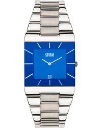Storm - Men's Lazer Blue Dial Slimline Bracelet Watch Omari Xl Blue - Lyst