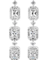 Jenny Packham - Designer Baguette Crystal Drop Earrings - Lyst