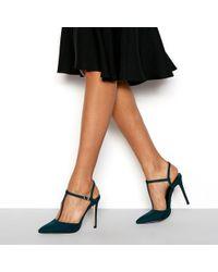 Faith - Green 'chi' T-bar Stiletto Heels Sandals - Lyst