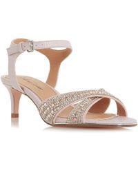2c7b959db10 Roland Cartier Silver  dianah  Mid Kitten Heel Ankle Strap Sandals ...