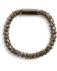 Phase Eight - Pewter Rosalie Stone Round Bracelet - Lyst