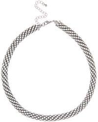 Coast - Charcoal 'hallie' Sparkle Necklace - Lyst