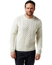 Craghoppers - Mixed 'aron' Cable Knit Jumper - Lyst