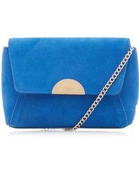 548ce9d85e Dune - Blue  billiee  Metal Trim Clutch Bag - Lyst