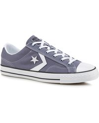 Converse - Grey 'star Player' Lace Up Trainers - Lyst