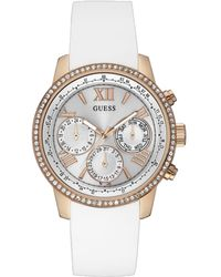 Guess - Ladies White Strap Watch - Lyst