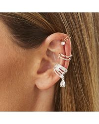 Lipsy - Multi Tone Crystal Ear Cuff Set - Lyst